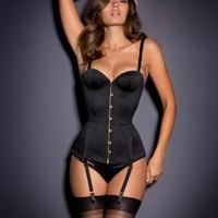MERCY CORSET SATIN BLACK