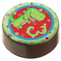 12 personalized dipped oreos t-rex kids birthday