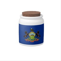 Pennsylvania State Flag Candy Jar