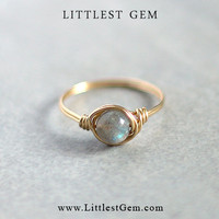 Labradorite Ring - wire wrapped jewelry handmade - unique rings - custom