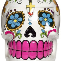 DAY OF THE DEAD SUGAR SKULL BOX WHT