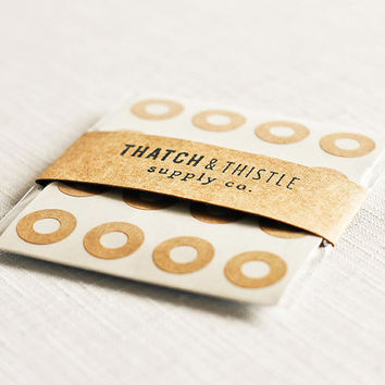 Kraft Brown Reinforcement Labels - Set of 144 - (0.56 Inch) Circles Stickers Gift Wrapping Party Invitations Embellishment Pretty Packaging