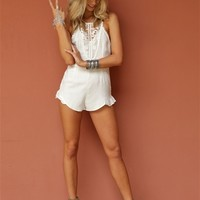 West Coast Wardrobe Festival Famous Romper in White | Boutique To You