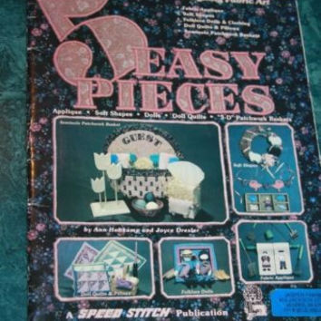 5 Easy Pieces Applique Dolls Doll Quilts Patchwork Baskets Craft Sewing Patterns
