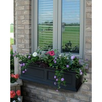 36-inch Window Box Planter in Black Polyethylene