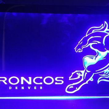 b-268 Denver Broncos beer bar pub club 3d signs LED Neon Light Sign man cave
