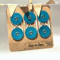 Loop-de-Loops - String-tie Stickers for Envelopes and Notebooks