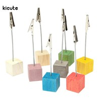8Pcs Colorful Cube Stand Wire Desk Card Note Picture Memo Photo Clip Holder Table Wedding Party Place Favor Personalized Gift