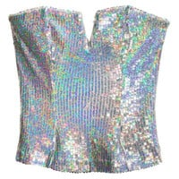 Sequined Bustier - from H&M