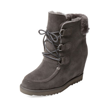 Atwell Women's Chauncey Wedge Bootie - Grey -