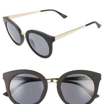Quay Australia x Benefit Cosmetics - SHOOK Matte Sunglasses - Black