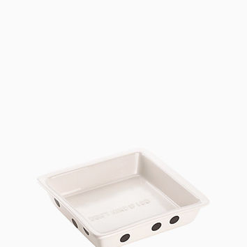 deco dot square baker
