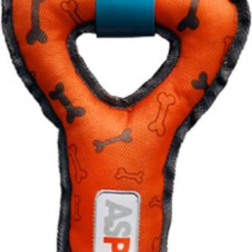 ASPCA Ruff & Tuff Double Tug Dog Toy-Orange