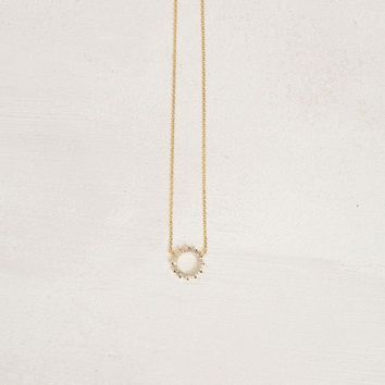 Sherrie Crystal Halo Dainty Necklace