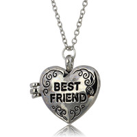 Fashion Sweet Pattern heart best friend locket pendant necklace friendship great gift-giving friends top Women