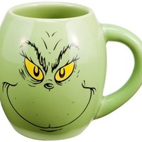 Dr. Seuss The Grinch Oval Ceramic Mug: Vandor: 733966063832: