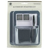 Locker Style™ Dry Erase Board Value Pack with Marker, Cup, and Magnets - Grey : Target