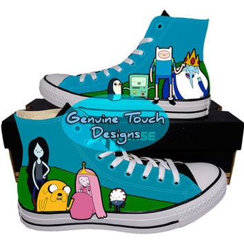 Hand Painted, Adventure time, Fanart shoes, Custom converse, Birthday Gifts, Christmas Gifts, Art work, cartoon shoes,