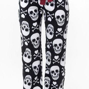 Skull Pants Micro Polar Fleece Pants  Loose Fit  Pajama Pants Lounge Pants Gift Ideas