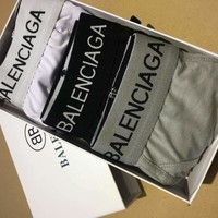 BALENCIAGA Trending Men Stylish Pure Cotton Underwear
