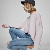 Piped seam sweatshirt - Basics - Sweatshirts - Clothing - Woman - PULL&BEAR United Kingdom