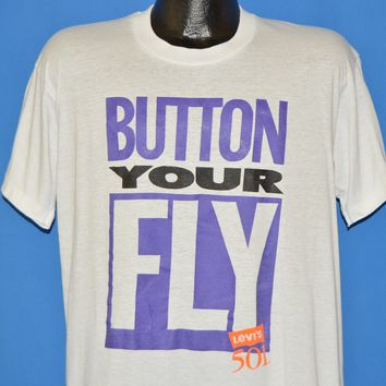90s Button Your Fly Levi's 501 t-shirt Large