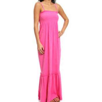 Juicy Couture JG009297 Terry Smocked Maxi Dress