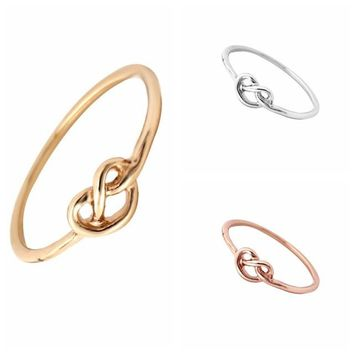 Heart Knot Ring Everyday Jewelry Infinity Adjustable Ring