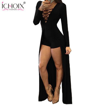 Women Clothing Sexy Dresses Red V-Neck Long Sleeve Slim Bodycon Bandage Dress Tight Party Dresses Black Woman Clothes 2016