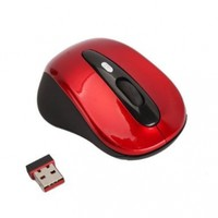 Doinshop Red Cordless USB Receiver Wireless 2.4G Optical Mouse Vista