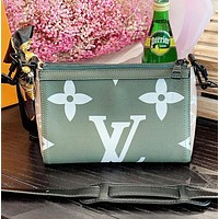 LV Louis Vuitton Fashion New Monogram Print  Leather Shoulder Bag Crossbody Bag Women Green