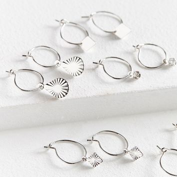 Charmed Mini Hoop Earring Set | Urban Outfitters