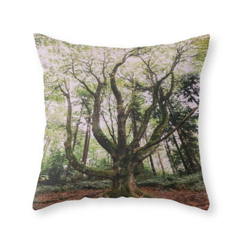 Society6 Forest Magic Throw Pillow