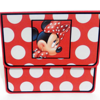 Gift Card Holder, Gift Card Envelope, Gift Card Box, Money Holder- Minnie Mouse