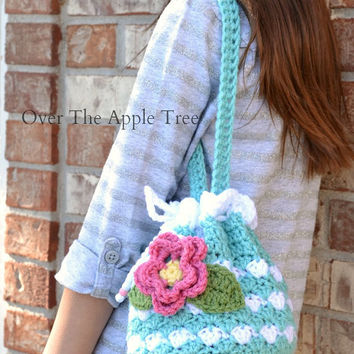 Flower Purse, Girl's Purse, Crochet Bag