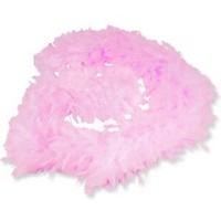 Pink Feather Boa (7ft) Girls Dress up Costume Pink Boa