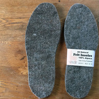 Felt Insoles All Natural Alpaca for Boots Shoes Slippers