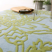 Amy Butler Hand Tufted Wool Rug Parrot Tulip