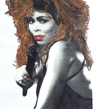 Tina Turner T shirt Painted 3d Art To Wear Tshirt
