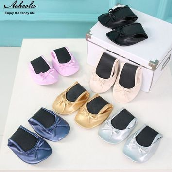 Aohaolee After Party Women Foldable Ballet Flats Portable Travel Fold up Shoes Prom Ba