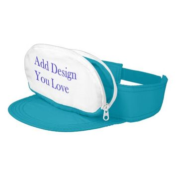 Personalize Your Own Turquoise Cap-Sac Visor