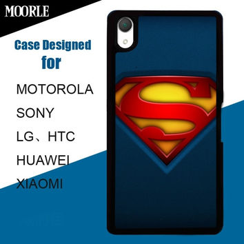 Superman Logo Pattern Mobile Cell Phone Covers Hard Plastic Cases for HTC, SONY,LG, Motorola, HUAWEI, XIAOMI = 1946647492