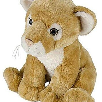 "Wildlife Tree 11"" Cougar or Lioness Lion Cub Stuffed Animal Plush Floppy Zoo Animal Den Collection"