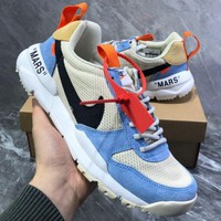 Free shipping-Nike Craft Mars Yard TS NASA 2.0 x OFF-WHITE Joint Sneakers