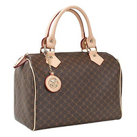 Leather Accents Classic Boston Bag