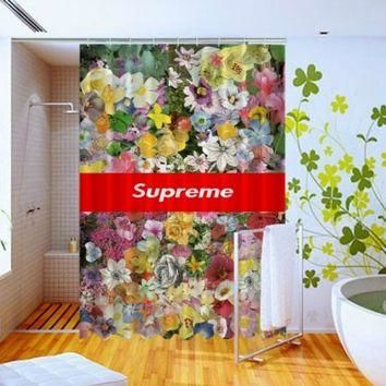 Vintage Floral Flowers Supreme Design High Quality Custom Shower Curtain 60 x 72