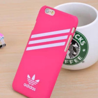 Rose Red Adidas Print  Cover Case For Iphone 7 7plus & 6 6s Plus  + Gift Box