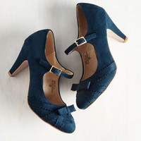 Live in the Presents Heel in Navy | Mod Retro Vintage Heels | ModCloth.com