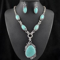 Jewelry Sets Vintage lace Antique Turquoise Dangle Earrings Classic