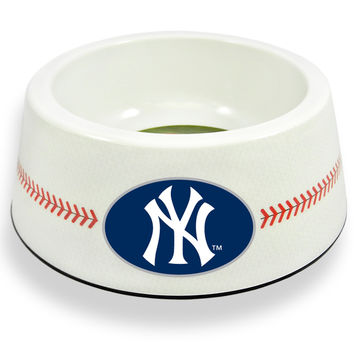 New York Yankees Classic Baseball Pet Bowl